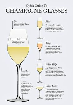 Drink it how it pleases you (sometimes i use a pilsner glass), but here are glasses designed for maximum bubbly. How you're really supposed to drink Champagne/Sparking Wine