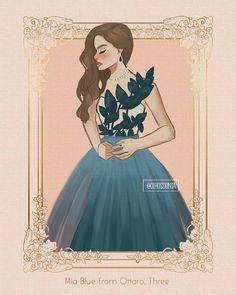 """Gabriela Gois no Instagram: """"Mia Blue de Ottaro, Três. """"Mia não estava feliz com Maxon quando ele a eliminou. Ela estava prestes a chorar e o interrogou antes de sair…"""" The Selection Kiera Cass, The Selection Book, Kiera Cass Books, Maxon Schreave, Hunger Games Catching Fire, Princess Drawings, Fanart, World Of Books, Heroes Of Olympus"""