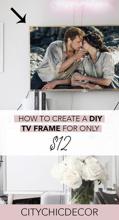 Home Interior Boho Tired of your boring TV? You can create a budget-friendly DIY gold TV frame quickly! Learn how to create this amazing, chic DIY here. Picture Frame Tv, Gold Picture Frames, Diy Tv, City Chic, Cheap Beach Decor, Studio Apartment Decorating, Framed Tv, Create A Budget, Barbie Dream House