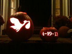 Expecting Announcement Pumpkin for Halloween