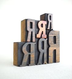 A fun, customizable gift - vintage wooden letterpress letters from Vintage Marvels. #erindollar