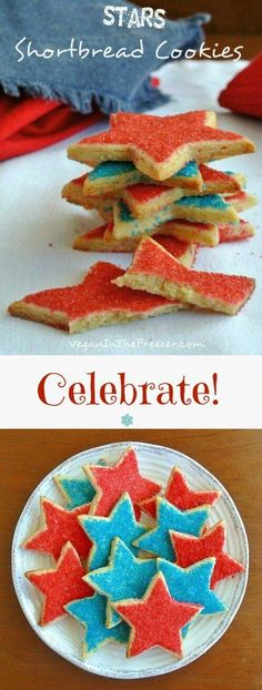 Stars Shortbread Cookies will add a lot of color to your table and put smiles on everyone's faces. Celebrate!