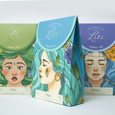 The Tea of Emotions on Packaging of the World - Creative Package Design Gallery Cool Packaging, Tea Packaging, Brand Packaging, Bottle Packaging, Label Design, Box Design, Branding Design, Package Design, Free Hand Drawing
