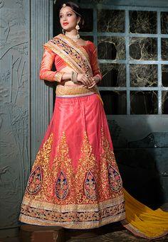 Diwali Special Pink Bridal Lehenga Choli-30007