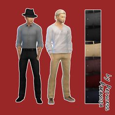 The Sims 4 | beverlyallitsims: Some Pants for male adult | CAS clothing bottoms
