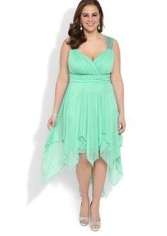 Purple Halter Plus Size High Low Chiffon Prom Dress - by OKDress UK