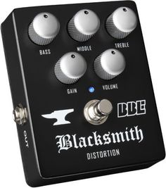 BBE Blacksmith Distortion Pedal. 3-band EQ Preamp. Guitar Effect Pedal. MINT. #BBE
