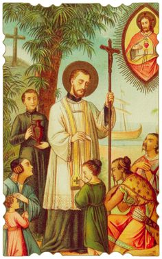 St Francis Xavier, one of the first Jesuits. Missionary to Asia. This man gave up his academic career in order to pursue Jesus.