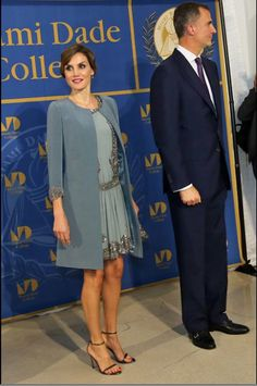 Royals & Fashion - King Felipe and Queen Letizia continued their official visit to the USA in Florida, in Miami