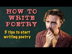 How To Write Poetry For Beginners | 5 Easy Tips To Start Writing Poetry - YouTube Poetry Lessons, Writing Poetry, Start Writing, Journal Prompts, Poems, Teaching, Tips, Easy, Youtube