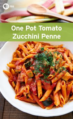With tender chunks of zucchini in a spicy Arrabbiata sauce, this easy delicious pasta is the perfect one-pot meal for a busy weeknight dinner.