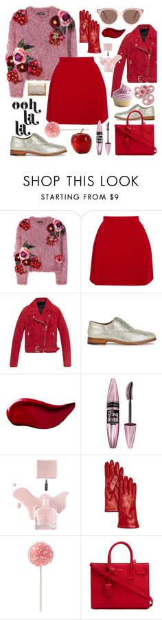 """""""Sweet temptation"""" by sophier on Polyvore featuring Dolce&Gabbana, Delpozo, Andrew Marc, Grenson, Kat Von D, Maybelline, Bloomingdale's, Yves Saint Laurent and Preen"""
