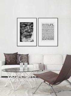 Holstee Manifesto poster. Old man in black and white. Photo. www.desenio.se
