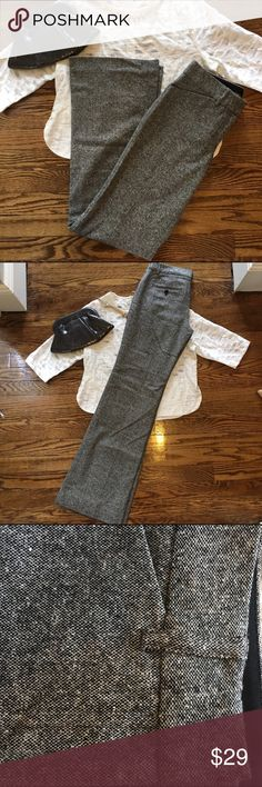 Express Wool Dress Pants Like new condition. Fully lined.  Shell is 61% wool, 27% nylon, 11% silk, 1% spandex.  Wide leg/boot cut.  Editor style.  Inseam measures 32.5 inches. Express Pants Trousers