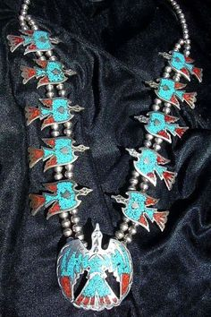 R.I.P. 2014 Vintage Tommy Singer Sterling Silver Turquoise Waterbird Necklace