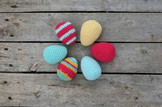 Other – Crochet Easter eggs, colorful spring decoration – a unique product by TomToy on DaWanda