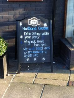 Husband annoying you in Fort William? Leave him here. Great Scottish sense of humour.