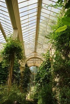 Detail of Castle Ashby Orangery Interior in Northamptonshire