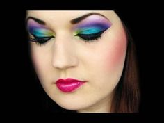 Arabian Peacock: Colorful Arab makeup tutorial (by MissChievous)