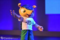 Fuleco, mascotte officielle de la Coupe du Monde 2014. - NELSON ALMEIDA  - AFP