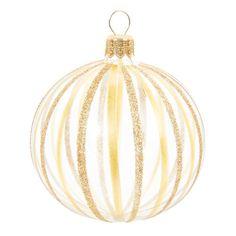 Pallina natalizia dorata in vetro D 7 cm ARLEQUIN