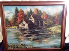 A personal favorite from my Etsy shop https://www.etsy.com/listing/195676184/vintage-framed-oil-painting-landscape