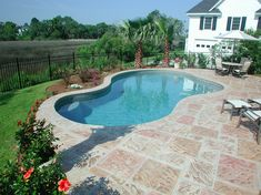 Free Form Residential Pool in Mt. Pleasant, SC