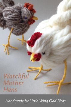 Bird Crafts, Felt Crafts, Easter Crafts, Christmas Crafts, Diy Arts And Crafts, Diy Crafts To Sell, Crafts For Kids, Yarn Animals, Knitted Animals