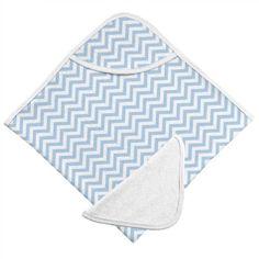 Kushies Hooded Towel and Wash Cloth in Blue Chevron - Towels & Washcloths Chevron Bathroom, Hooded Bath Towels, After Bath, Blue Chevron, Bath Time, Washing Clothes, Bathroom Accessories, Bathing, Hoods