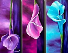 3 Panels Hand Painted Modern Colorful Lily Flowers Oil Painting on Canvas Cuadros Pictures Pictures for Living Room Wall Cuadros Lily Painting, Modern Oil Painting, Oil Painting Flowers, Oil Painting On Canvas, Flower Paintings, Canvas Art, Flower Artwork, Art Floral, Art Mur