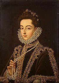 Catalina Micaela  de Austrai, Infanta of Spain & Duchess of Savoy(1567-1597), wife of Charles Emmanuel I of Savoy. by Sanchez Coello 1585