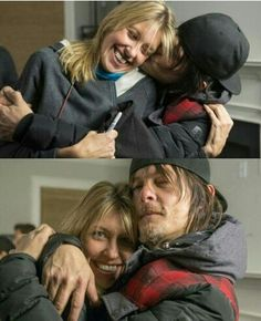 Norman Reedus and Denise Huth