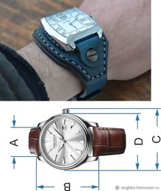 Leather Diy Crafts, Leather Projects, Leather Craft, Custom Leather, Leather Accessories, Leather Working, Clock, Leather Watches, Design