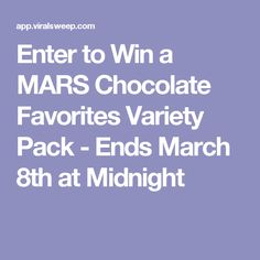 Enter to Win a MARS Chocolate Favorites Variety Pack - Ends March 8th at Midnight