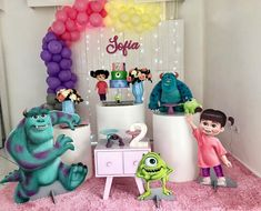 Candy Colors, 2nd Birthday, Bb, Party, Ideas Aniversario, Diy House Decor, Pup, Table Scapes, Monster Inc Birthday