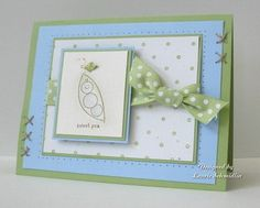 """Another cute """"pea in the pod"""" card - stamp set is Stampin' Up!'s """"Event Full"""""""