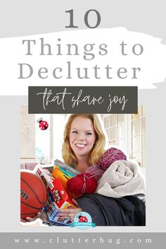 Here are 10 things you can get rid of today that feel SO GOOD to donate. If you want to declutter without the overwhelm and anxiety, it starts with a mindset shift. These feel-good items will make you WANT to declutter, and that mindset shift can have long lasting results on your home. #declutter #organize #clutter #bootcamp #clutterbug