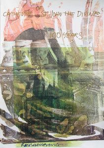 Artist: Robert Rauschenberg   Title:Cathedral of Saint John the Divine   Year:1993   Medium:Poster   Size: 36.5 x 25 inches [91.44 x 63.5 cm]