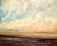 Seascape (3), huile sur toile de Gustave Courbet (1819-1877, France)