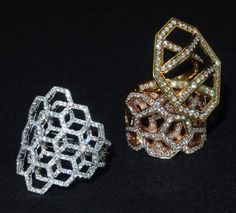 Plukka Diamond Honeycomb Rings