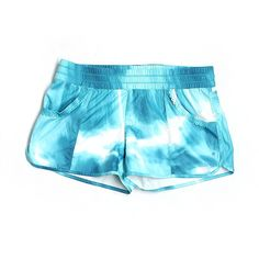 Pre-owned Lululemon Athletica Athletic Shorts ($22) ❤ liked on Polyvore featuring blue and lululemon