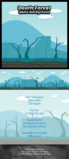 Other game kits you shoud have:                  Death forest Game Background ¨C You can use this background for your game applica