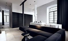 minimalist loft in Lodz, designed by Tamizo Architects Group