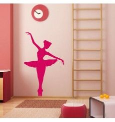 sticker danseuse en tutu d co pochoir silhouette et stickers. Black Bedroom Furniture Sets. Home Design Ideas