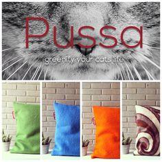 Pussa pillows. Www.pussa.nl