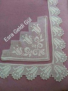 How to Crochet Wave Fan Edging Border Stitch Crochet Bolero Pattern, Crochet Bedspread Pattern, Crochet Borders, Crochet Motif, Crochet Doilies, Hand Crochet, Crochet Stitches, Easter Crochet Patterns, Vintage Crochet Patterns