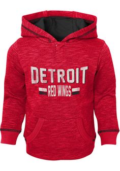 110a4e98529 Detroit Red Wings Toddler Red Tiny Enforcer Long Sleeve Hooded Sweatshirt -  13349337. Nhl ChicagoChicago BlackhawksRed Wings HatDetroit ...