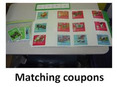 British Columbia Kindergarten Language Arts Environmental print Match a coupon with the object picture. Folder or work station activity. Money Activities, Life Skills Activities, Life Skills Classroom, Special Education Classroom, Teaching Activities, Classroom Ideas, Kindergarten Social Studies, Kindergarten Language Arts, Vocational Skills