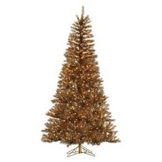 7.5 ft. Metal Mix Tinsel Pre-lit Artificial Christmas Tree - Clear Lights