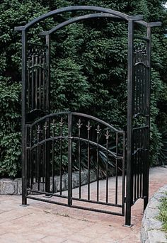 Orleans Wrought Iron Garden Arbor - Overstock Shopping - Great Deals on Garden Accents